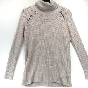 American eagle lilac soft knit turtle sweater